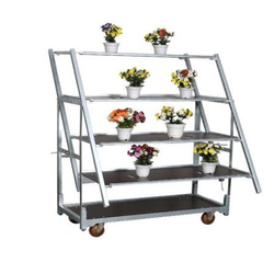 Factory supply dutch display flower pot trolley cart for greenhouse