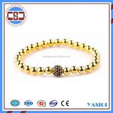 2016 latest luxury jewel diamond 14k gold plated stainless steel bracelet