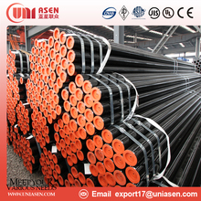 High quality round shaped oil or painting en10219 hot rolled seamless steel pipe