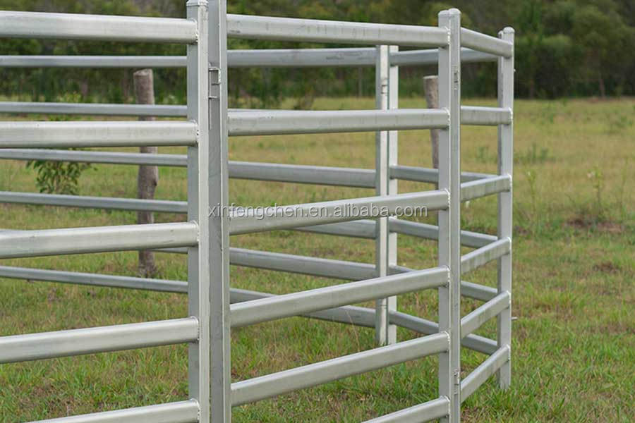 Heavy duty galvanized livestock metal fencing cattle yard panels