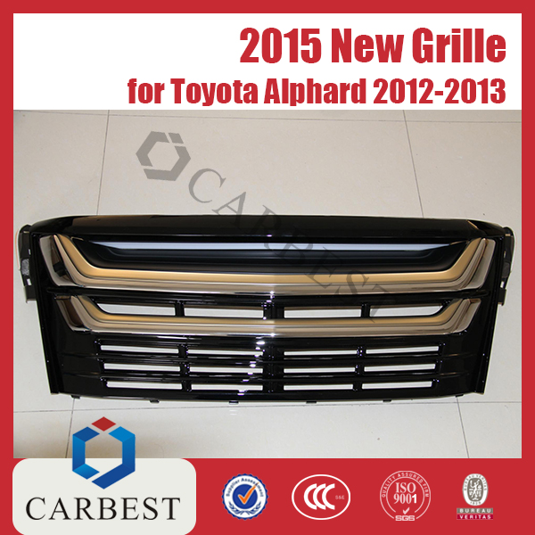 High Quality New 2015 PP Southeast Asia Type Toyota Alphard Grille