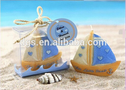 New Arrival Art Craft Sailing Boat Shaped Wedding Candles