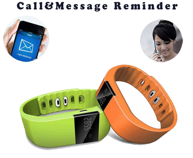 Intelligent health fitness tracker with calorie sleep monitor waterproof smart wristband BT sport fitbit