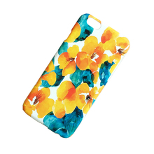 Wholesale yellow flower painting hard plastic cell phone case For iPhone X 8 Plus 6 7