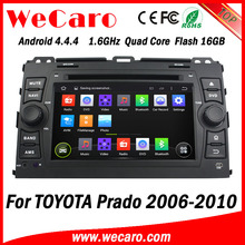 Wecaro Android 4.4.4 car stereo 2 din for toyota prado car dvd android GPS 1080p 2006 - 2010