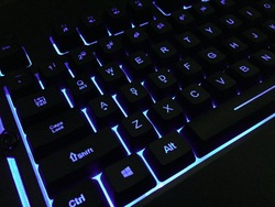ROCKSOUL Wired LED Colorful Breathing Backlit Membrane Gaming Keyboard