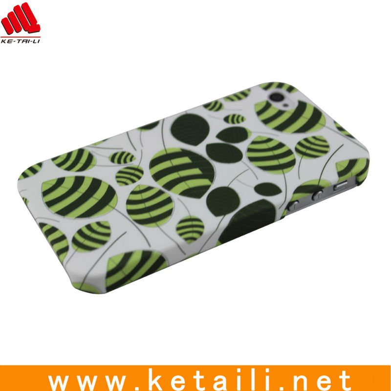 Green leaves printing design for iphone 4S case hot selling