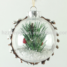 Acrylic clear flat plastic ball christmas pendant ornaments for sale