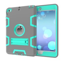New Design Contrast Color Kickstand Tablet Case For iPad Mini 1/2/3