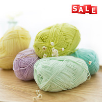 wholesale handmade combed cotton knitting yarn for hand knitting for baby sweaters