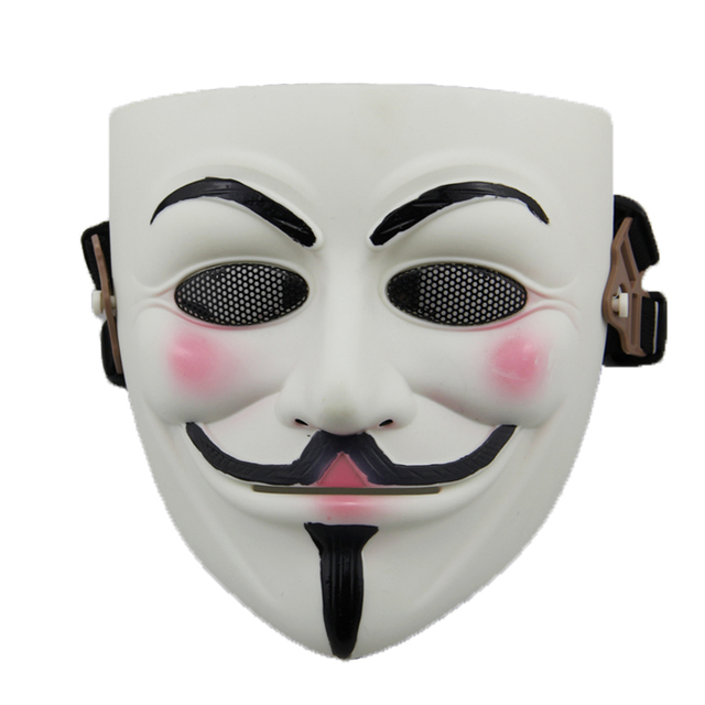 White Color Anonymous V For Vendetta Mask For Paintball Live Cs