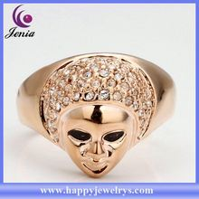 China supplier hot selling crystal ring rose gold ring mountings RGPR006