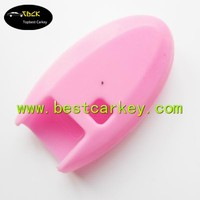 Hot sale 3+1 buttons key case for Nisan rubber key covers in pink no logo rubber car remote covers