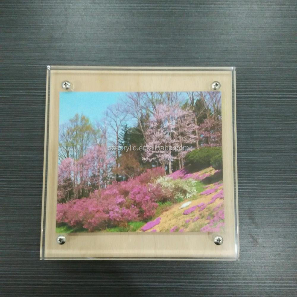 Customized clear acrylic picture frames photo frames for wholesale