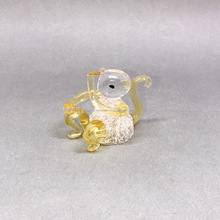 cute blown glass monkey figurines