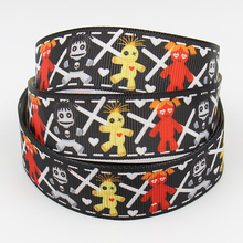 printed cartoon character cheap grosgrain ribbon decorated halloween ribbon