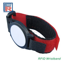 Adjustable RFID Nylon wristband/bracelet with F08 chip ISO14443A for access control