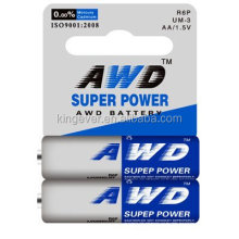 cheap carbon zinc dry battery aa r6p 1.5v super heavy duty battery