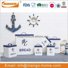 Latest Design Metal Colorful bread box and canister set
