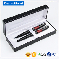 Promotion parker pen and metal ball pen with luxury box couple pen set