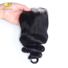 Black 4x4 sliky straight Brazilian hair closure cheap human hair frontal lace closure with bundles