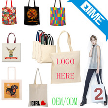 China Manufacturer Natural Color Cotton Canvas Tote Shopping Bag With Custom Logo Printing
