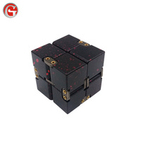 Customized laser logo infinity aluminum cube for stress relief magical cube of different color