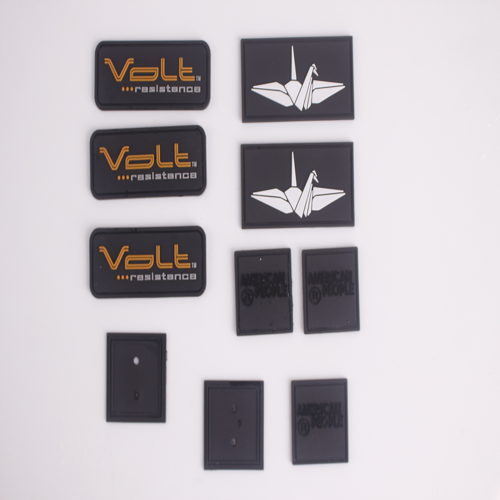 3d rubber silicone heat transfer label