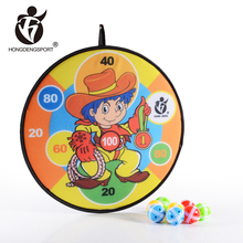 innovative indoor plastic sticker portable dart board stands with small balls