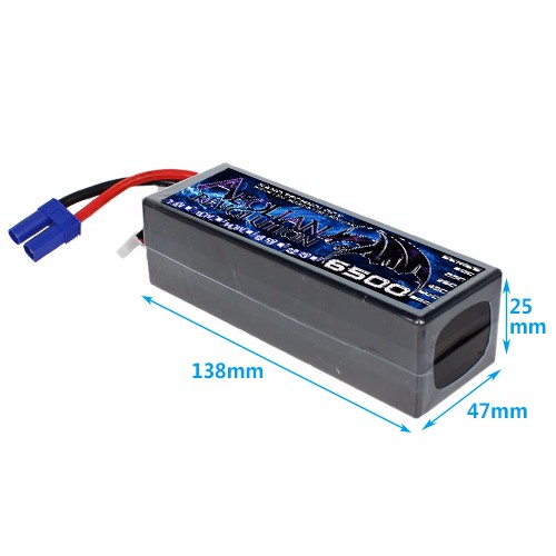 High C rate 60C 6500mAH 7.4V 2 cell 2P Lipo toys battery for electric car RC model RC car quadcopter