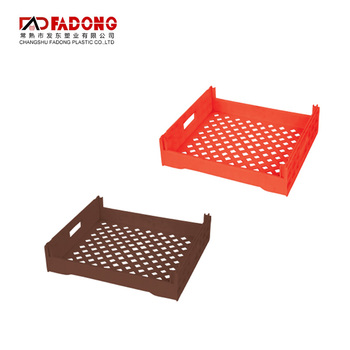 CE Certificate red supermarket small plastic food basket for baking