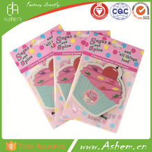 hanging paper car air freshener with opp bag anion ozone car air freshener custom-made paper air car freshener, DL981