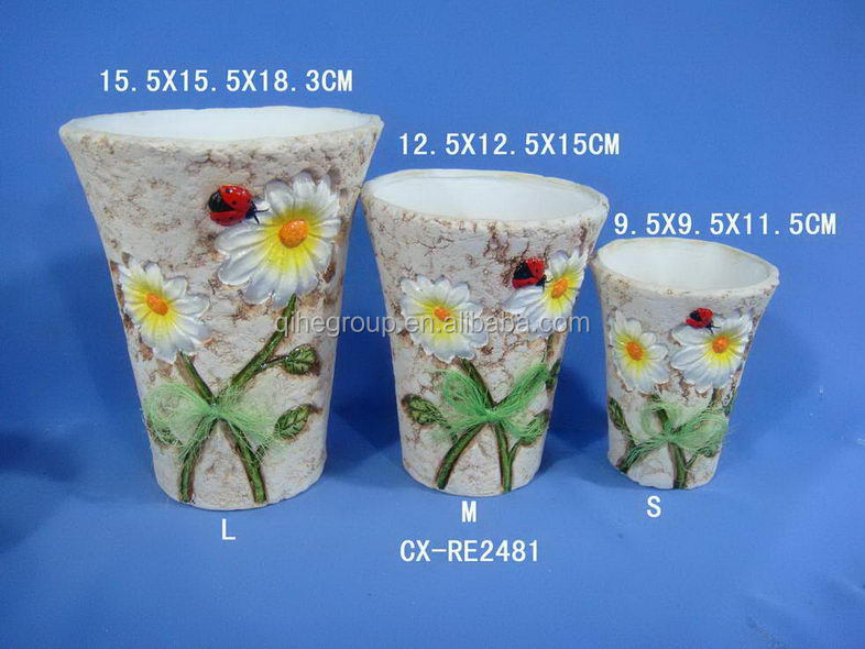 Home Decor Flower Pot Wholesale Prices Pottery Flower Planters Hot Ceramic Glazed Flower Pot