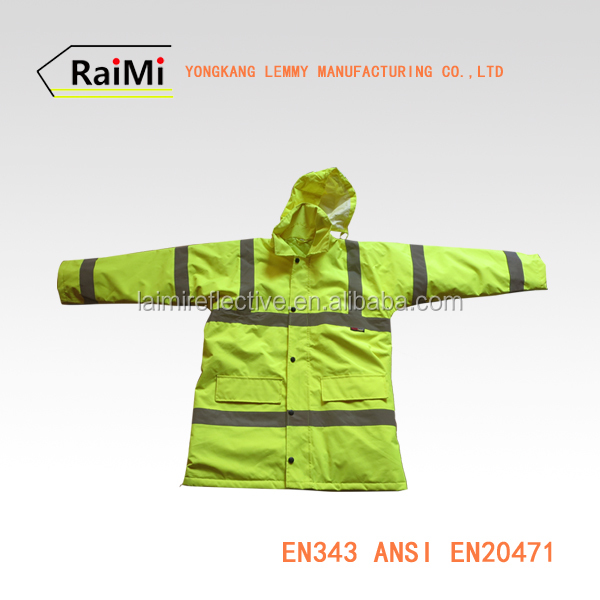 420 D oxford 3m waterproof safety reflective fluorescent jacket & softshell jacket