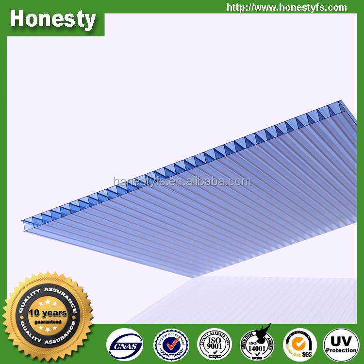 Cheap durable uv protection 4mm 6mm 8mm 10mm 12mm 14mm 16mm cellular polycarbonate sheet for greenhouse roofing