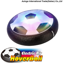 Indoor Outdoor Air Power Hover Soccer Ball with Foam Bumpers and Light Up LED Lights for Kids