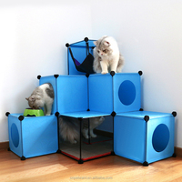 2016 DIY Indoor Cat House with Scratcher Carboard Cat House Factory Direct