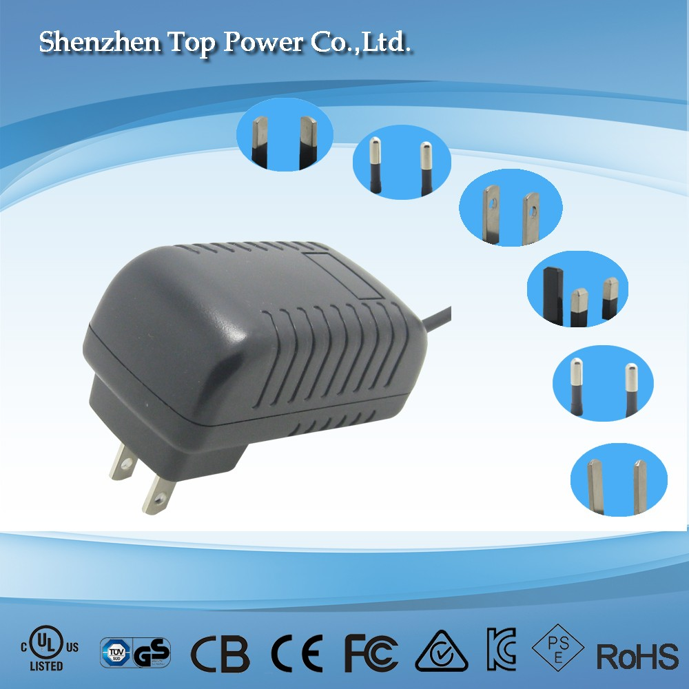 AC Adapter for Portable DVD Player, Output: DC 12V/ 1.5A