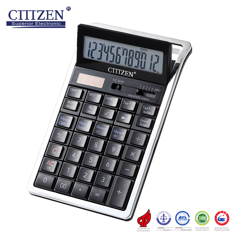 GTTTZEN 12 digit two way power solar using desktop calculator