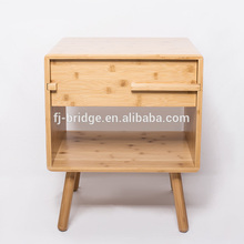 Bamboo Bedside shelf Nightstand Side Storage Cabinet Bedroom <strong>Furniture</strong>