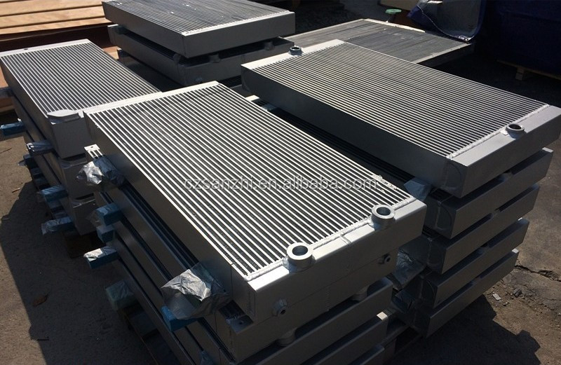 High Pressure Air Cooler : High pressure aluminum plate fin air and oil cooler for