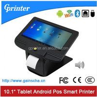 "10.1""Android touch screen barcode receipt thermal printer with WiFi Bluetooth 3G and touch screen for Restaurant Retail store"