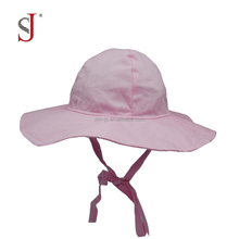Soft Comfortable Cotton Sun Protection Bucket Cap Baby Hats Kids Caps With String