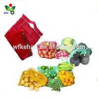 Produce fruit packing net bag with handle for orange lemon cirtus