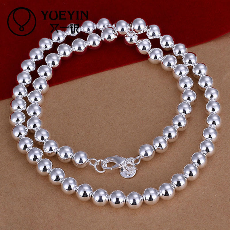 Wholesale 925 sterling silver bead chain necklace design