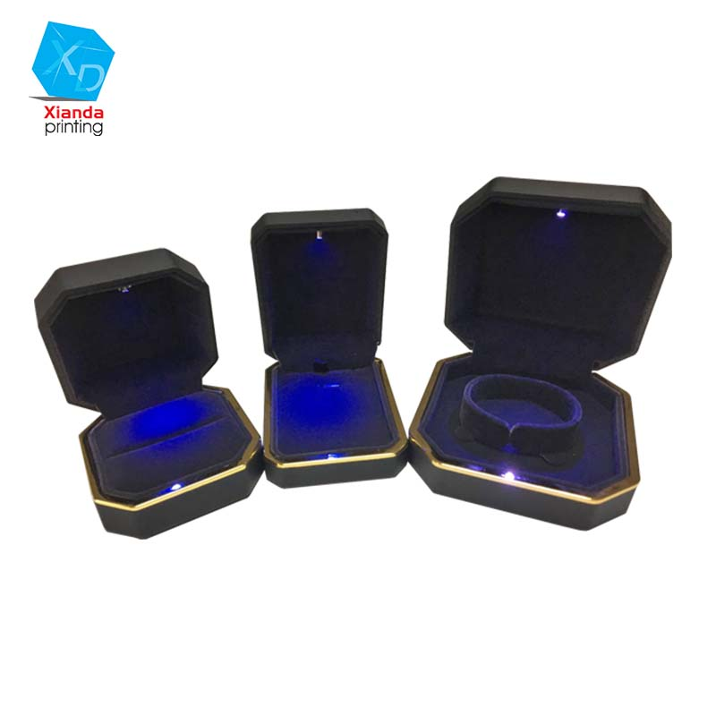 Quantity mixed LED jewelry box luxury jewellry display boxes