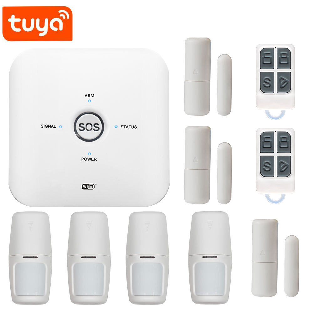 New TUYA easy installation WIFI+GSM Anti fire alarm system for yard OEM/ODM with pir Detector tuya APP control