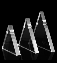 Triangle Clear Acrylic Display Stand for Necklace Jewelry Store