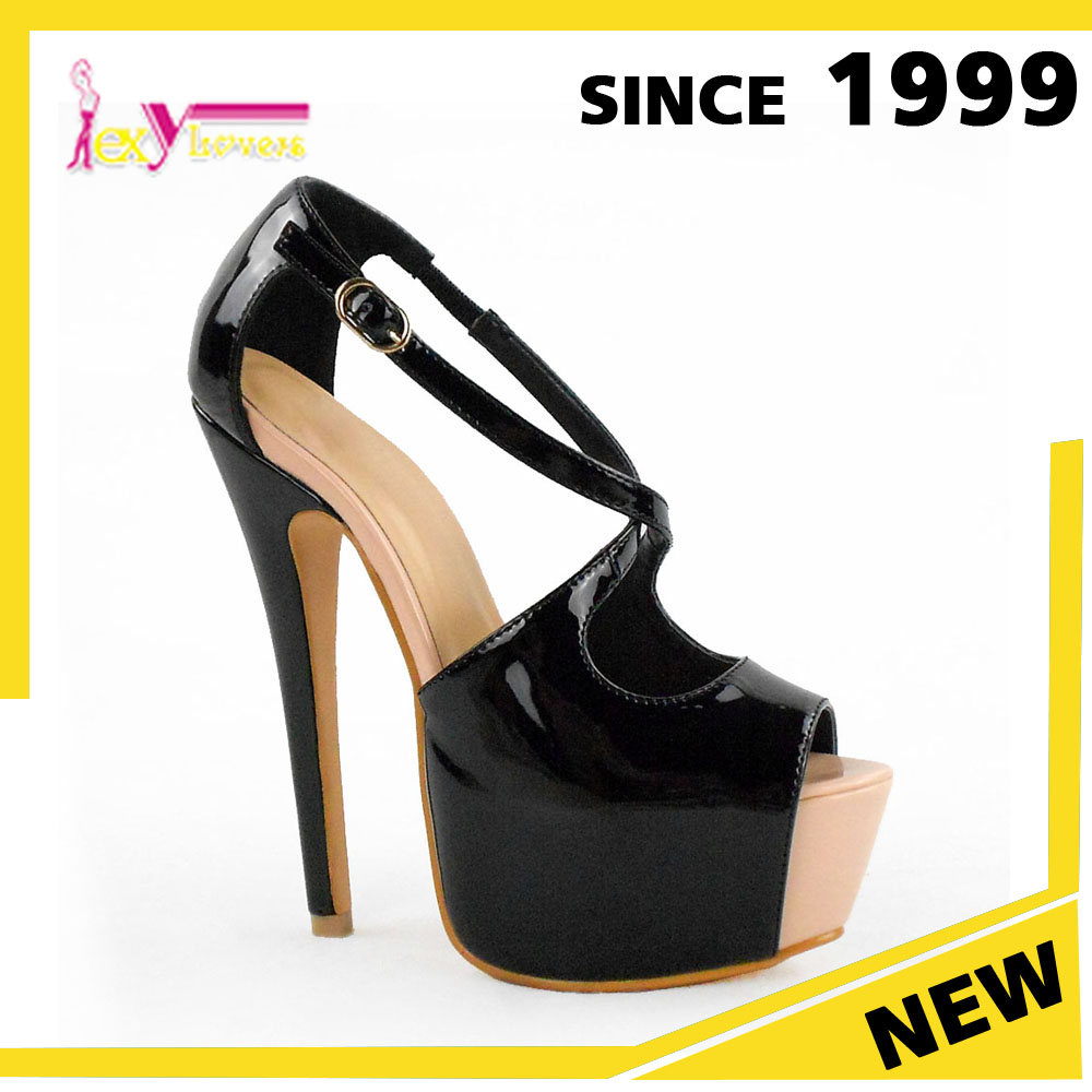 Fashion Ladies High Heel Shoes Latest Women Party Cross Straps Sandals