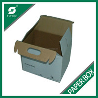 HOT SELL PLAIN WHITE PAPER BOX STRONG WEIGHT BEARING CARDBOARD BOX WITH HANDLE WITH FREE SAMPLE